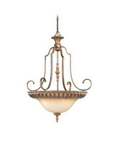 Vaxcel Lighting KB-PDU280 TZ Four Light Hanging Pendant Chandelier in Tuscan Bronze Finish - Quality Discount Lighting