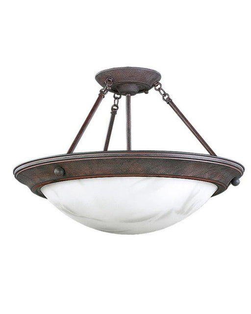 Progress Lighting P3484-33 Three Light Semi Flush Ceiling Mount in Cobblestone Finish - Quality Discount Lighting