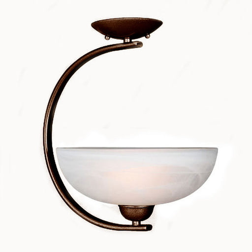 Access Lighting 26005 RU Aspire Contemporary Semi Flush Mount Ceiling Fixture in Rust Finish - Quality Discount Lighting