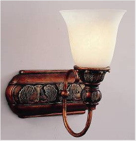 Trans Globe Lighting 7251 CLC One Light Wall Sconce in Colonial Copper Finish with Marbleized Glass