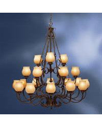 Kichler Lighting 1721 OZ Colton Hall Collection Twenty One Light Chandelier in Olde Bronze Finish - Quality Discount Lighting