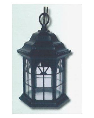 Epiphany Lighting 102472 BK One Light Cast Aluminum Hanging Outdoor Exterior in Black Finish - Quality Discount Lighting