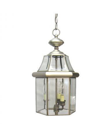 Kichler Lighting S9885 AP Three Light Outdoor Exterior Hanging Pendant in Antique Pewter Finish - Quality Discount Lighting