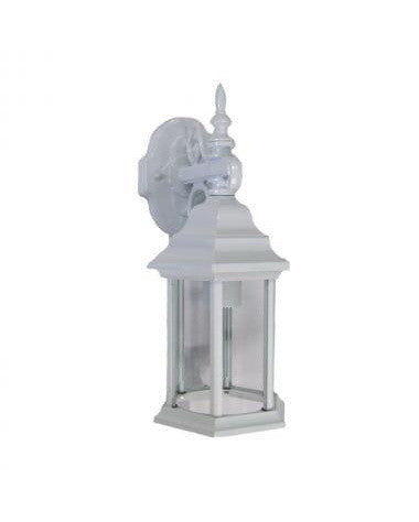 Epiphany Lighting 104961 WH Cast Aluminum Outdoor Exterior One Light Wall Lantern in White Finish