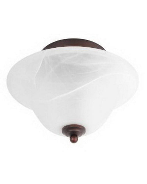 Globe Lighting 6189901 Two Light Semi Flush In Crimson Coffee Finish