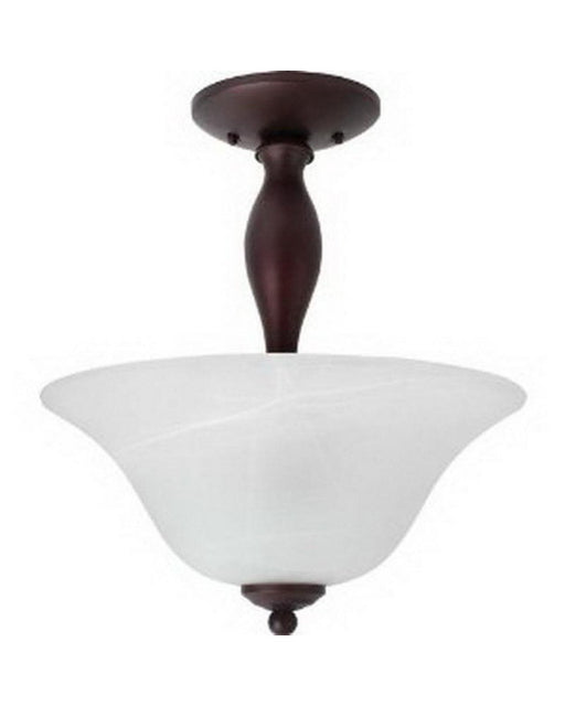 Globe Lighting 6189801 Two Light Semi Flush in Crimson Coffee Finish