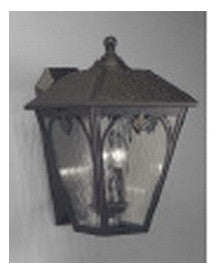 Aztec 39196 by Kichler Lighting One Light Outdoor Wall Lantern in Hammered Bronze Finish - Quality Discount Lighting