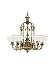 Kichler Lighting 40002 BAB Smithsonian Joseph Henry Renwick Collection Five Light Chandelier in Burnished Antique Brass Finish - Quality Discount Lighting