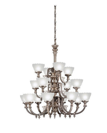 Kichler Lighting 40023 AP Smithsonian Joseph Henry Renwick Collection Sixteen Light Chandelier in Antique Pewter Finish - Quality Discount Lighting