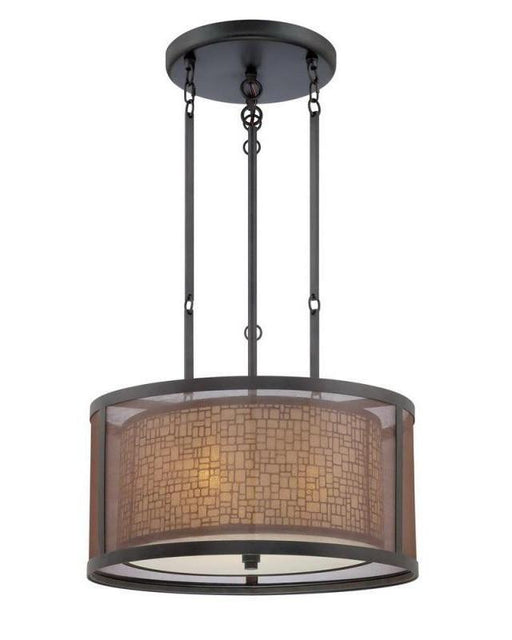 Quoizel Lighting TRN2820TM Three Light Teco Marrone Finish Pendant Chandelier - Quality Discount Lighting