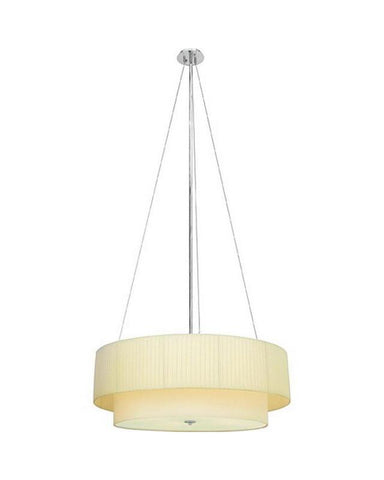 Quoizel Lighting MAR336G Four Light GU24 Energy Efficient Fluorescent Chandelier Pendant in Polished Chrome Finish - Quality Discount Lighting