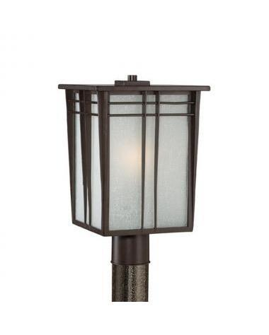 Quoizel Lighting JNE9010 WT One Light Outdoor Exterior Post Lantern in Western Bronze Finish - Quality Discount Lighting