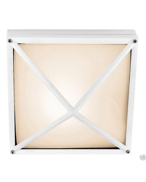Epiphany Lighting 104886 WH Two Light Cast Aluminum Outdoor Exterior Ceiling or Wall Mount in White Finish