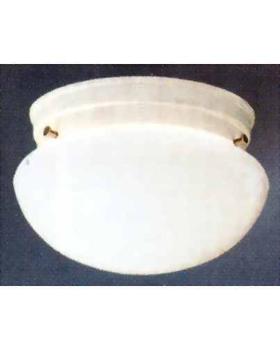 Kichler Lighting 8151 WH One Light Flush Ceiling Fixture in White Finish - Quality Discount Lighting