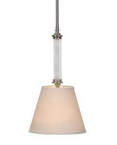 International Lighting 14073-53 One Light Mini Pendant in Brushed Nickel Finish - Quality Discount Lighting
