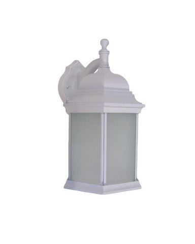 Trans Globe Lighting 54348PL WH Energy Saving Fluorescent Two Light Outdoor Wall Lantern in White Finish