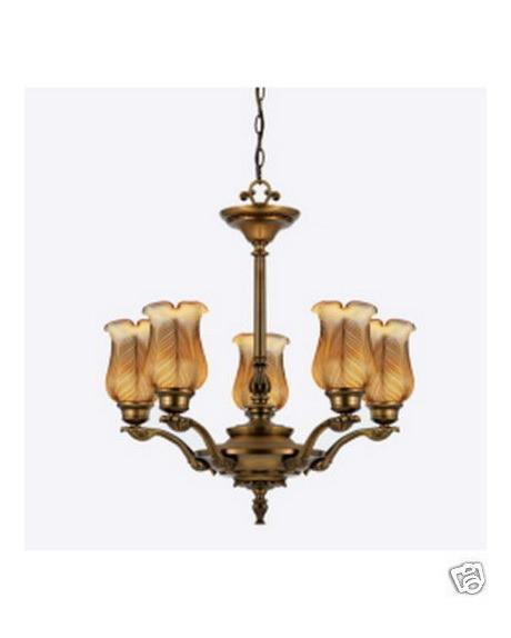 Quoizel Lighting VBTL5005 LB Five Light Chandelier in Legacy Brass Finish - Quality Discount Lighting