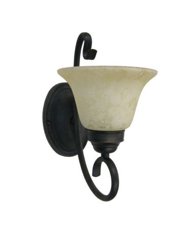 Epiphany Lighting ESVA121-13 ORB One Light Energy Efficient Fluorescent Wall Scone in Oil Rubbed Bronze Finish