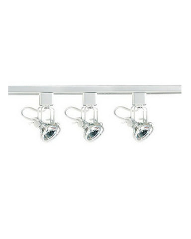 Quorum International 7243-3-6 Three Light Line Voltage Halogen Track Kit in White Finish - Quality Discount Lighting