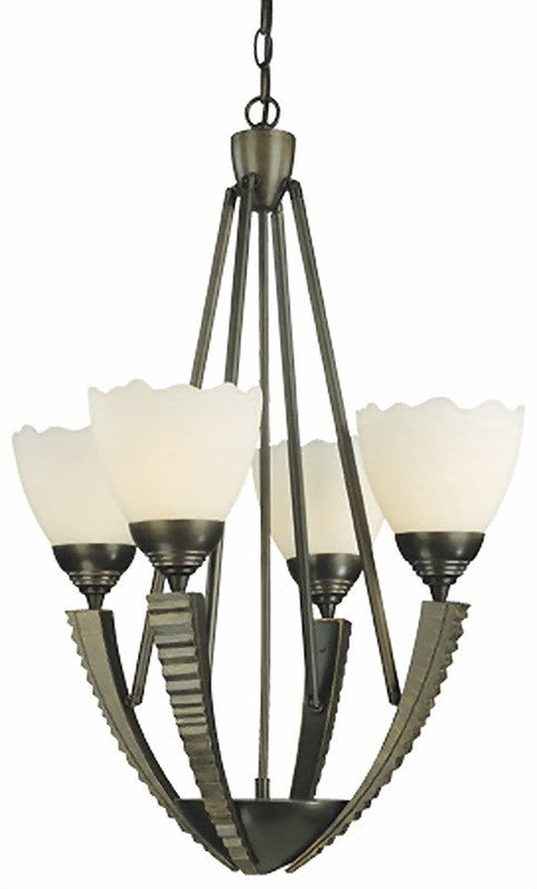 Thomas Lighting M2022-63 Anvil Collection 4 Light Chandelier in Painted Bronze Finish - Quality Discount Lighting