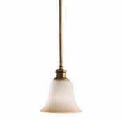Kichler Lighting 3443 VNB Stanton Park Collection One Light Mini Pendant in Vintage Natural Brass Finish - Quality Discount Lighting