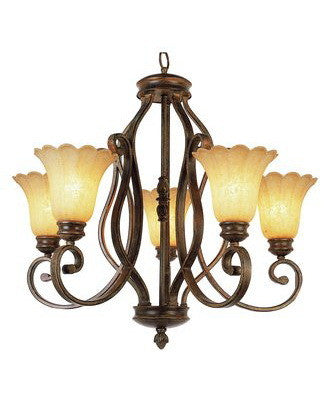 Trans Globe Lighting 2225 BRG Five Light Tuscan Chandelier in Burnished Gold Finish - Quality Discount Lighting