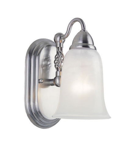 Trans Globe Lighting 2851 SN One Light Wall Sconce in Satin Nickel Finish - Quality Discount Lighting