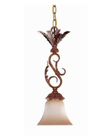 Nuvo Lighting 60-1547 San Remo Collection 1 Light Mini Pendant in Mayan Gold Finish - Quality Discount Lighting