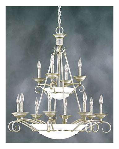 Thomas Lighting M2185-80 Fifteen Light Chandelier in Venetian Silver Finish - Quality Discount Lighting