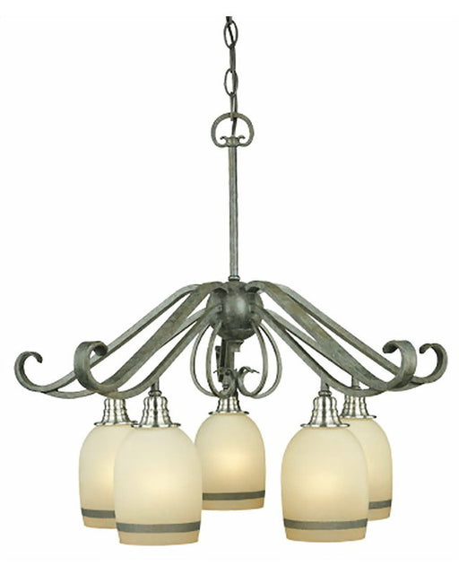 Thomas Lighting M2092-26 Five Light Chandelier in Natural Slate and Nickel Finish - Quality Discount Lighting
