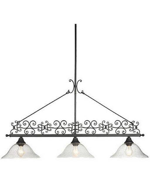 Thomas Lighting M2624-7 Three Light Island Chandelier in Matte Black Finish