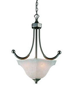 Z-Lite Lighting 701P Three Light Pendant Chandelier in Satin Nickel Finish - Quality Discount Lighting