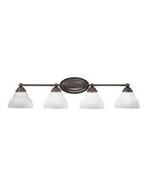 Kichler Lighting 5213 OZ Park View Collection Four Light Bath Wall Fixture in Olde Bronze Finish - Quality Discount Lighting