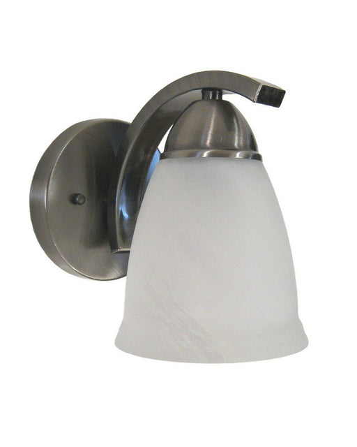 Rainbow Lighting S1352-01 SN One Light Wall Sconce in Satin Nickel Finish - Quality Discount Lighting