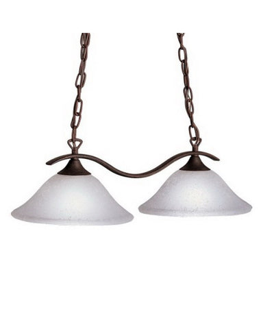 Kichler Lighting 10772 TZ Two Light Energy Saving Fluorescent Hanging Island Pendant in Tannery Bronze Finish - Quality Discount Lighting