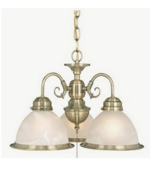 Vaxcel Lighting LK29953 AC Three Light Convertible Hanging Chandelier or Fan Light Kit in Antique Brass Finish - Quality Discount Lighting