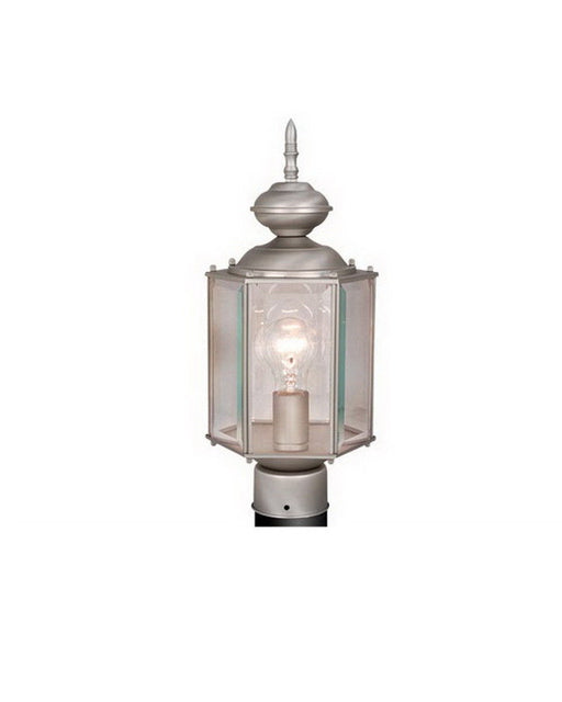 Vaxcel Lighting OP1315 BN One Light Outdoor Exterior Post Lantern in Brushed Nickel Finish - Quality Discount Lighting
