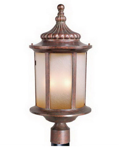 Vaxcel Lighting OP39005 RBZ Three Light Exterior Outdoor Post Lantern in Royal Bronze Finish - Quality Discount Lighting