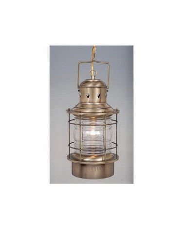 Vaxcel Lighting OD37006 A One Light Exterior Outdoor Hanging Lantern in Antique Brass Finish - Quality Discount Lighting