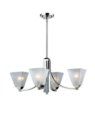 Z-Lite Lighting 1909-4 Four Light Chandelier in Polished Chrome Finish - Quality Discount Lighting