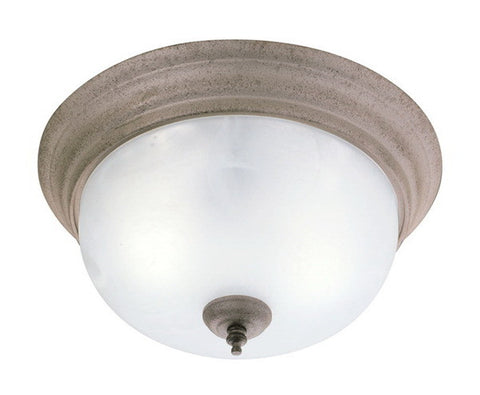 Forecast Lighting F6010-65 One Light Flushmount Ceiling in Silver Rust Finish