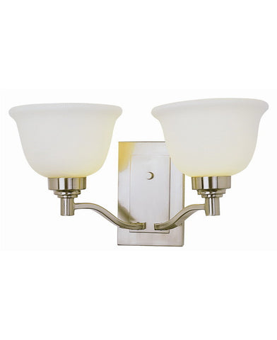 Trans Globe Lighting 6192 BN Transitional Two Light Wall Mount in Brushed Nickel Finish