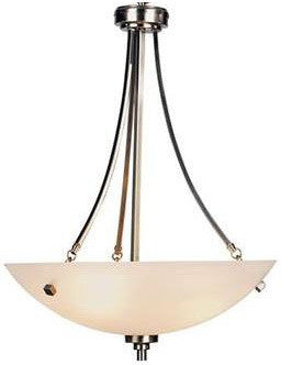Trans Globe Lighting 9213 BN Downtown Collection 4 Light Bowl Pendant Chandelier in Brushed Nickel Finish - Quality Discount Lighting