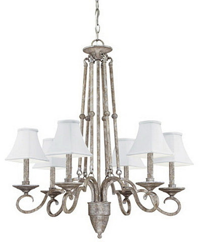Thomas Lighting M2145-66 Dalton Collection Six-light Chandelier in Silver Slate Finish - Quality Discount Lighting