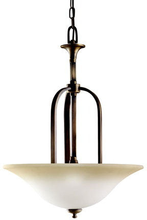 Kichler Lighting 3444 VNB Stanton Park Collection Three Light Pendant Chandelier in Vintage Natural Brass Finish - Quality Discount Lighting