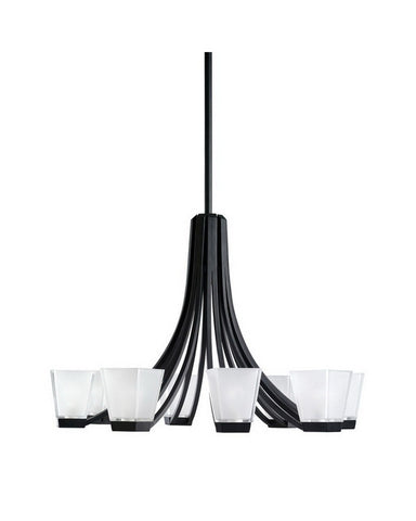 Kichler Lighting 2260 BK Eight Light Chandelier in Black Finish - Quality Discount Lighting