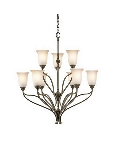 Kichler Lighting 42848 SWZ Nine Light Chandelier in Shadow Bronze Finish - Quality Discount Lighting