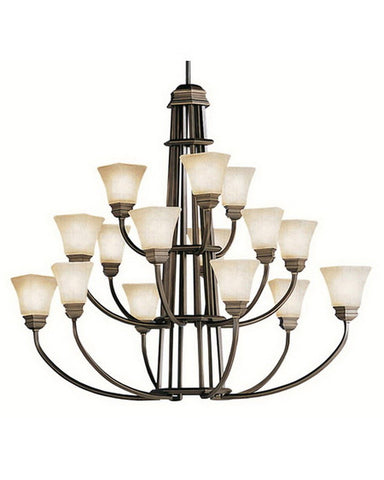 Kichler Lighting 1667 OLZ Fifteen Light Chandelier in Oiled Bronze Finish - Quality Discount Lighting