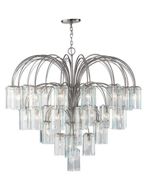 Forecast Lighting FDS348-36 Incredible 38 Light Chandelier in Satin Nickel Finish