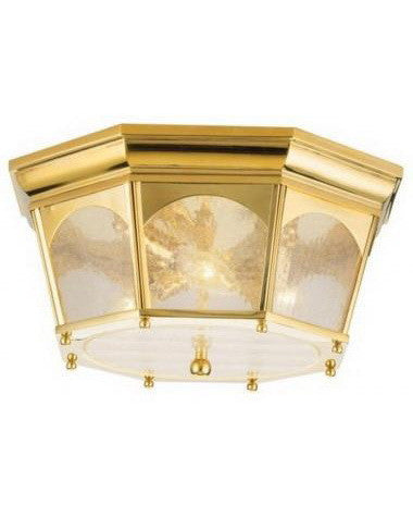 Kichler Lighting 9596 PB Three Light Ceiling Fixture in Polished Brass Finish - Quality Discount Lighting
